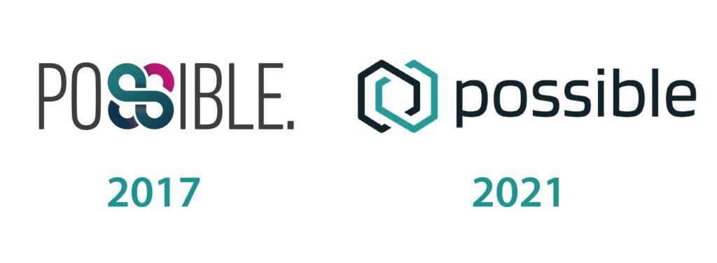 Cambio en el logo de Possibledesde 2017  a  2021