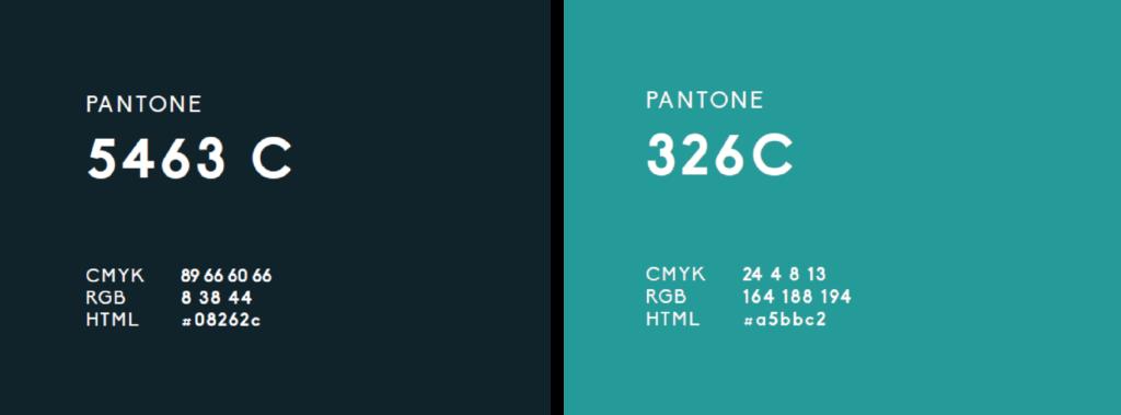 colores corporativos de la imagen actual de Possible . Cambio de look de los colores Posible a negro y azul turquesa